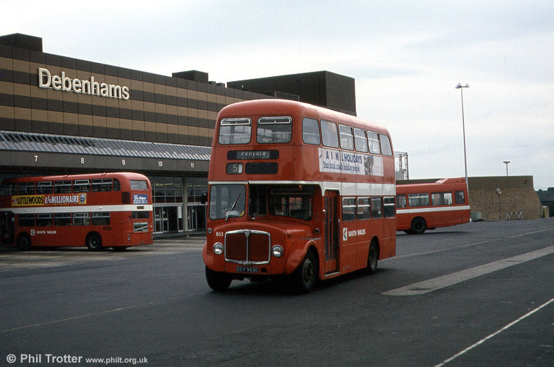 Another view of 1965 AEC Regent V/Willowbrook H37/27F 863 (CCY 983C) at Swansea.