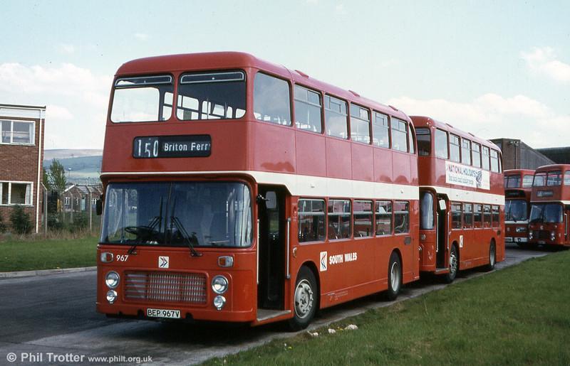 Bristol VRT SL3/ECW H43/31F 967 (BEP 967V).