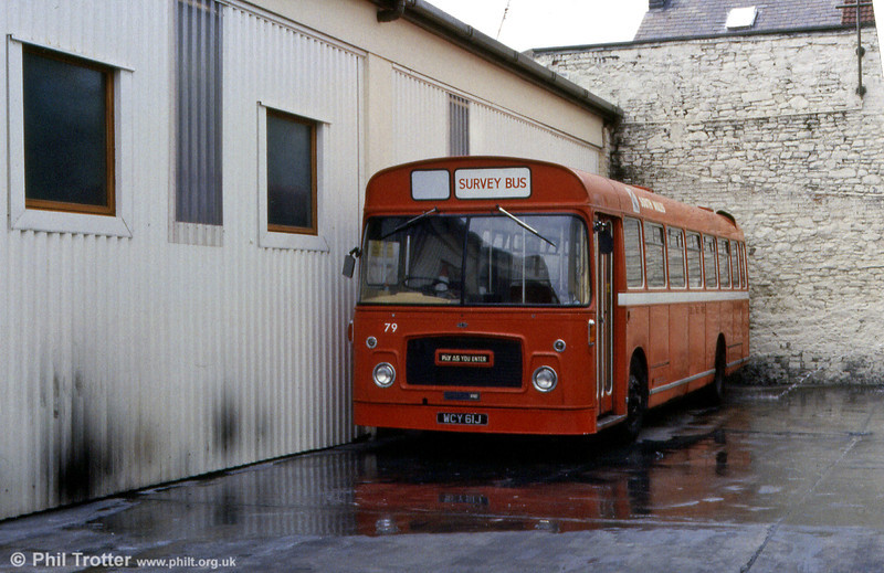 Bristol RELL6G/ECW B53F 621 (WCY 61J) in later use as the MAP survey bus.