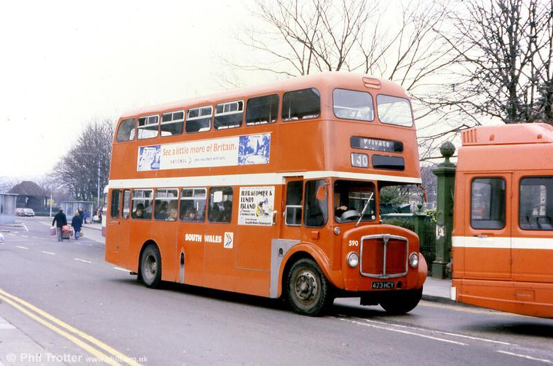 1964 AEC Regent V/Weymann H39/32F 590 (423 HCY).