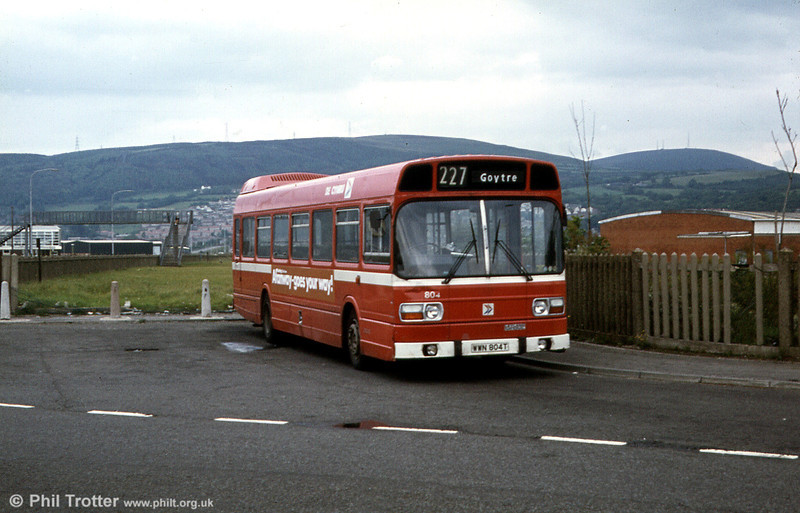 Leyland National B52F 804 (WWN 804T) at Sandfields Estate.