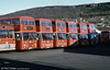 A line up of Bristol VRT SL3/ECW H43/31F at Pontardawe.