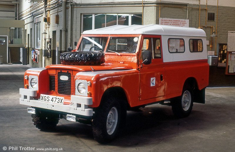 And finally... An unusual addition to the engineering fleet was this lwb Land Rover, XGS 473X.