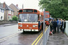 Leyland National B52F 787 (OEP 787R) on schools work.