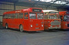 323, former Thomas Bros. 123 NTX, a 1962 Leyland Tiger Cub/Alexander B45F seen at Port Talbot on 21st November 1976.
