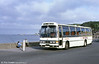 SWT 196 (JDG 287V), a 1980 Leyland Leopard/Duple C50F, originally with National Travel (South West), photographed at Oystermouth shortly after NTSW was transferred to SWT in 1981.