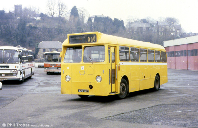 300 CUH was a 1963 Leyland Tiger Cub/Marshall B45F latterly used as a recovery vehicle numbered 18.