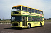 Painted in a commemorative Gower Vanguard livery to mark 75 years of motor buses in Gower during 1984 is Bristol VRT SL3/ECW H43/31F 939 (TWN 939S).
