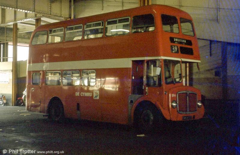 AEC Regent V/Willowbrook H37/27F 894 (GWN 872E).