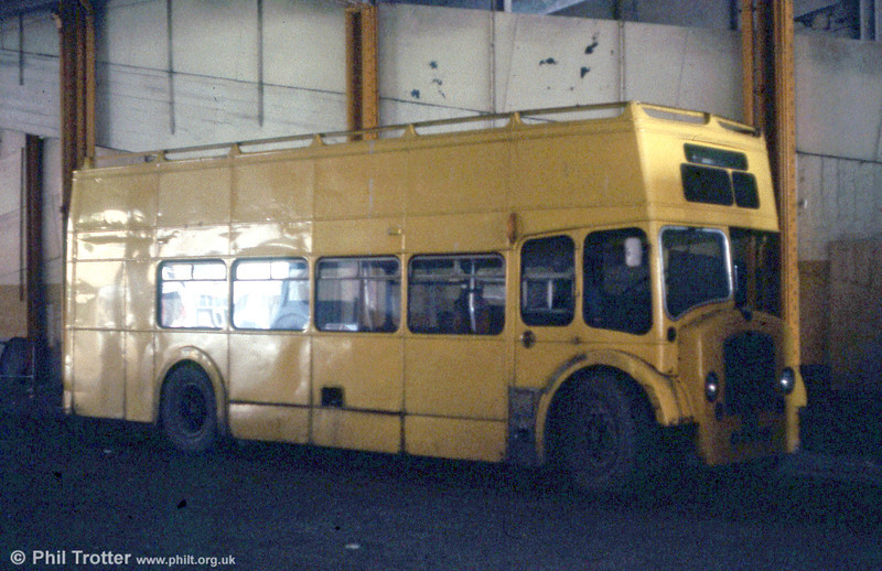 A substandard record shot of Bristol LD6G/ECW 916 (SWN 159) back on its home ground inside Singleton Street Bus Station.