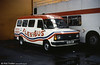 71 (B171 BEP), a 1985 Ford Transit/Williams Deansgate B12F for the 'Flexibus' private hire business.