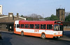 Leylsnd National 726 (NWN 726M) with IVY Travel in Derby during 1988.