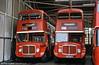 588 and 590 (421/3 HCY), a pair of 1964 AEC Regent V/Weymann H39/32F at Llanelli.