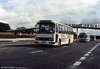 A series of pictures of Leyland Leopard/Willowbrook C51F 174 (BTH 482V) during the opening ceremony for the Bridgend section of the M4.