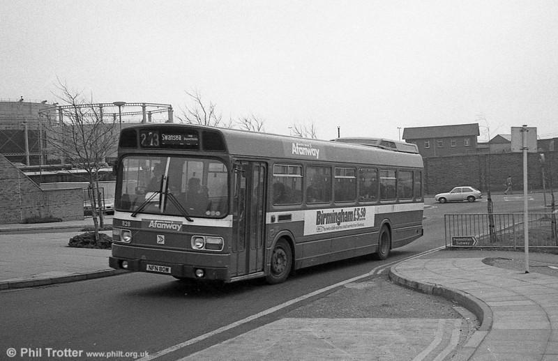 Leyland National B52F 828 (NFN 80M), ex-East Kent 1080 at Swansea.