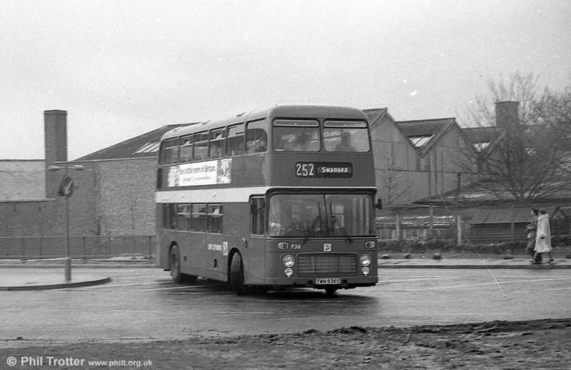 Bristol VRT SL3/ECW H43/31F 936 (TWN 936S) at Swansea.