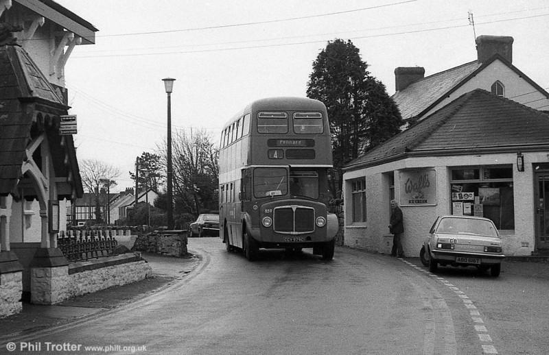 AEC Regent V/Willowbrook H37/27F 859 (CCY 979C) at Bishopston.