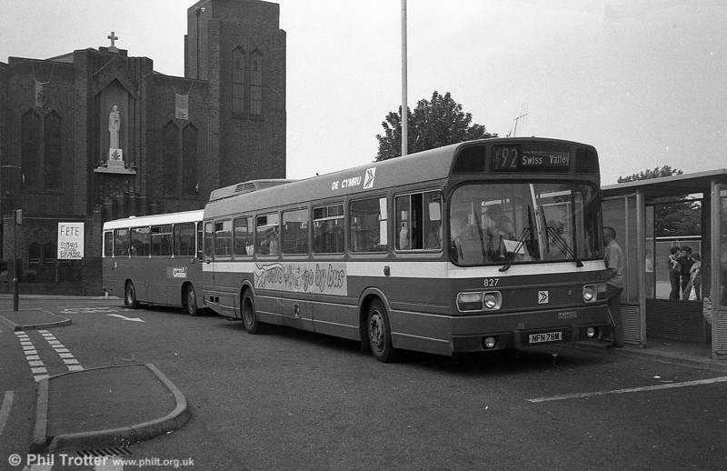 Leyland National B52F 827 (NFN 78M), ex-East Kent 1078 at Llanelli.