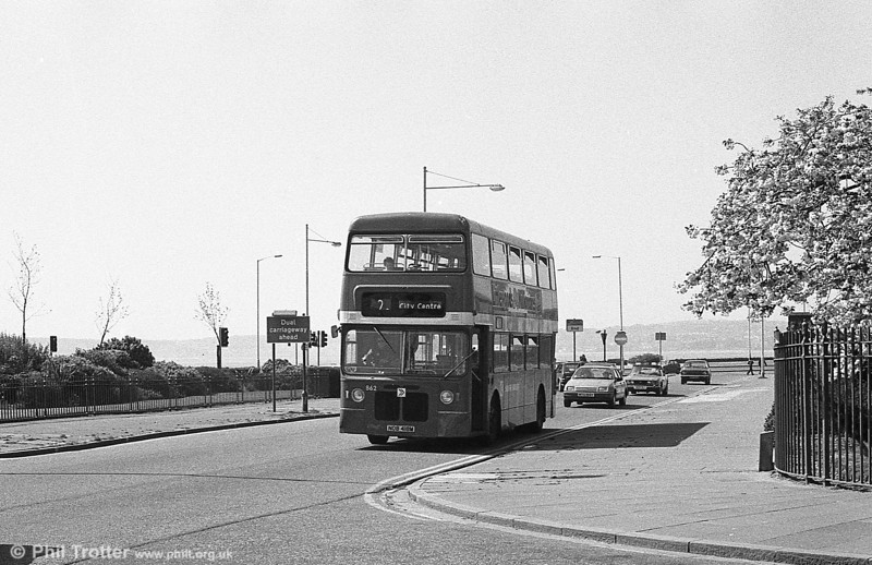 862 (NOB 418M), a Bristol VRT/MCW H43/31F, ex-West Midlands PTE 4418 at Swansea.