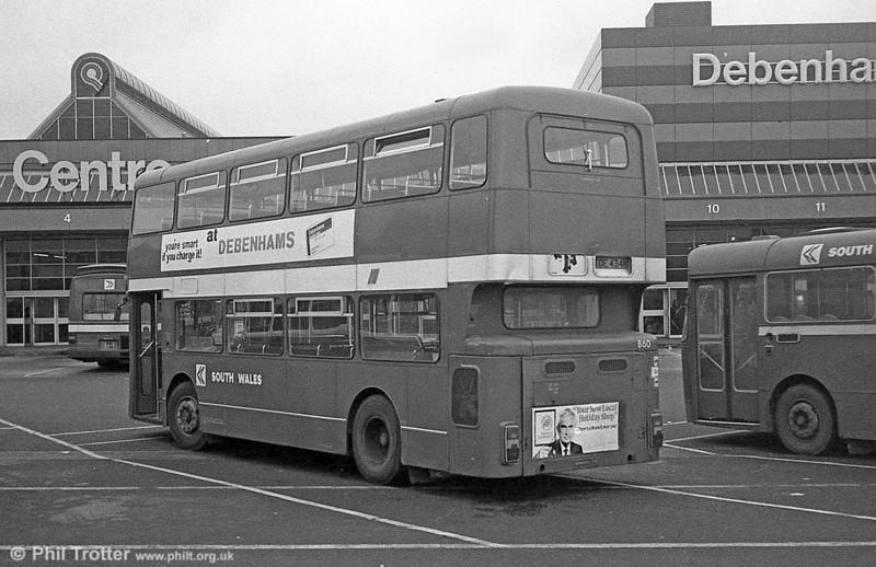 860 (TOE 434M), a Bristol VRT/MCW  H43/31F, ex-West Midlands PTE 4434 at Swansea.
