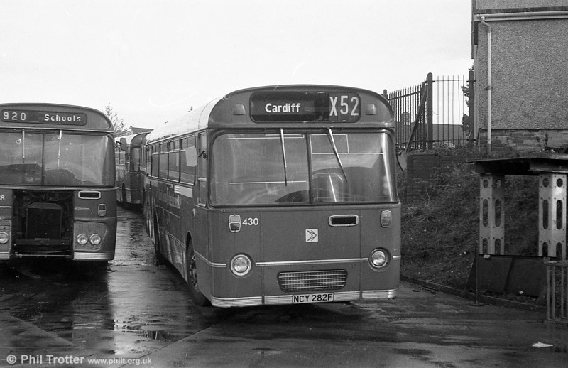 AEC Reliance/Willowbrook B53F 430 (ex-1951) (NCY 282F) at Ravenhill. In July 1981, this became the last of the 'Townhill Reliances' to be withdrawn.
