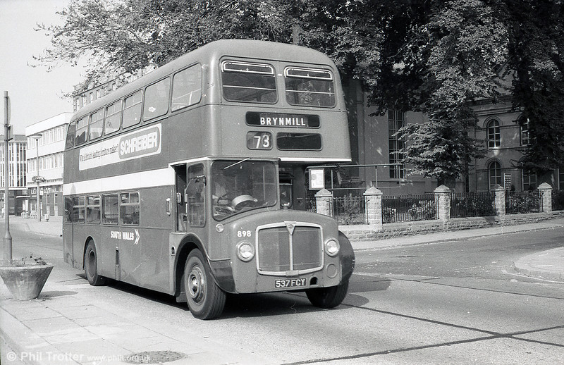 AEC Renown/Willowbrook H39/32F 898 (ex 125) (537 FCY) seen on 29th July 1973.