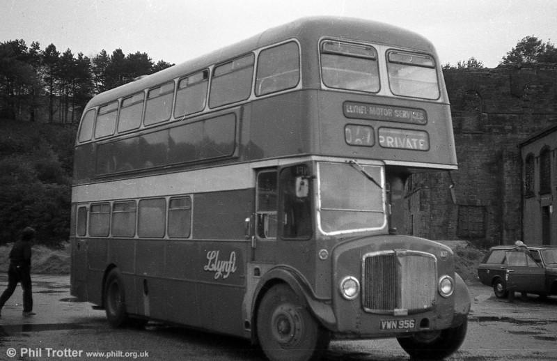 AEC Regent V 2D3RA / Willowbrook H39/32F 540 (VWN 956) with Llynfi, Maesteg.