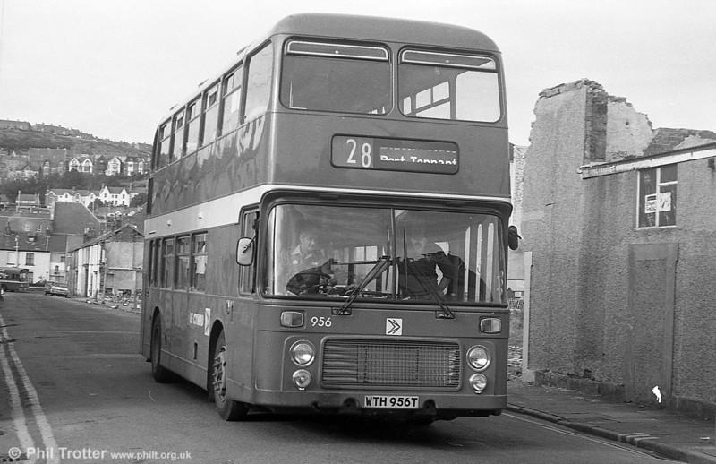 Bristol VRT SL3/ECW H43/31F 956 (WTH 956T) at Swansea.