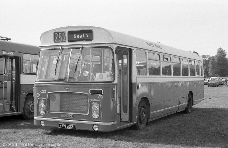 623 (XWN 623J) a 1971 Bristol RELH6G / ECW DP45F was preserved for a while, as seen in Bristol. It was believed scrapped in 1993.