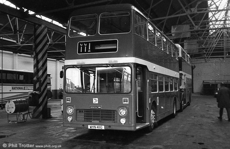 897 (WHN 411G), a Bristol VRT/ECW H39/31F, formerly United Auto 601, shortly after acquisition, at Brunswick St.