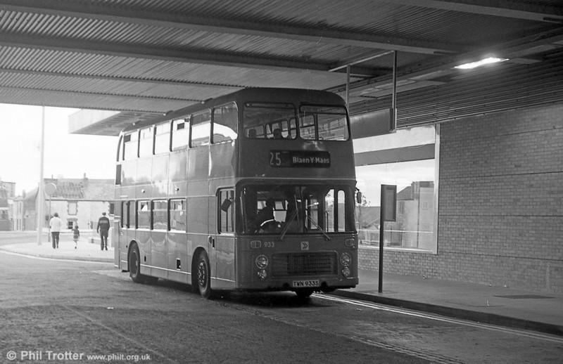 Bristol VRT SL3/ECW CO43/31F 933 (TWN 933S) at Swansea.