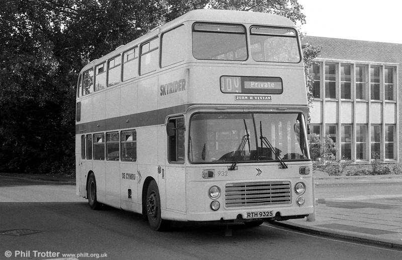 Bristol VRT SL3/ECW CO43/31F 932 (RTH 932S) at Swansea University.