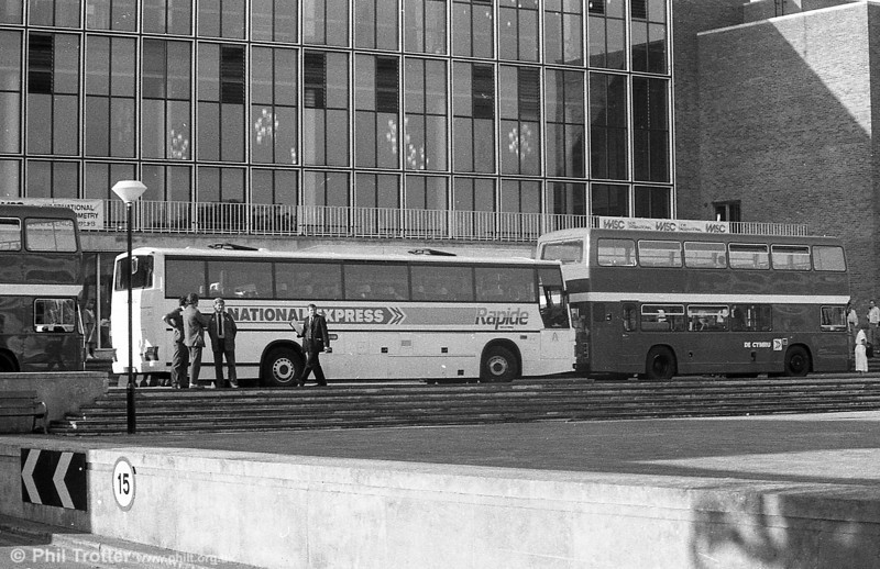 One of the 1983 Leyland Tiger/Duple Caribbean C46FT at Swansea University.