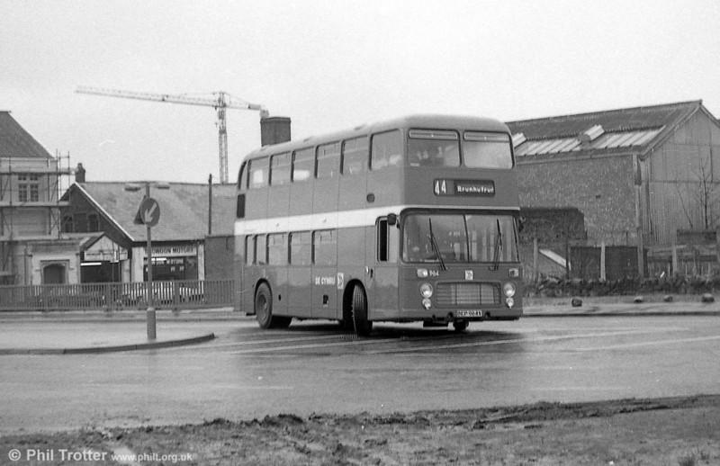 Bristol VRT SL3/ECW H43/31F 964 (BEP 964V) at Swansea.