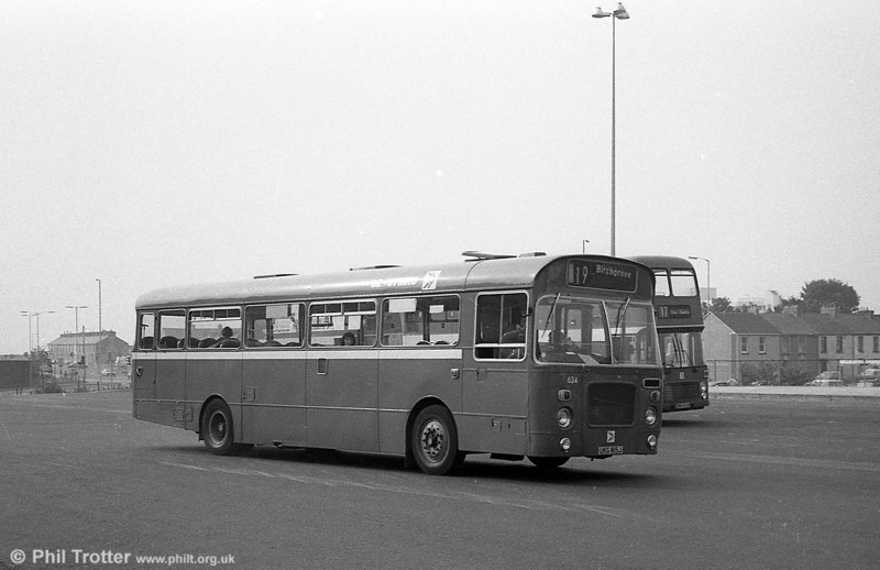 Bristol RELL6L/Marshall B51F 634 (UKG 815J) at Swansea.