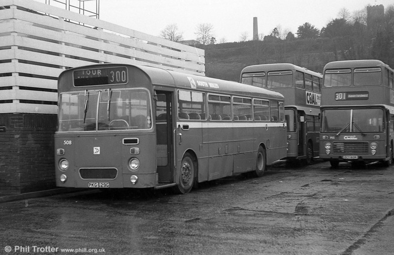 Leyland Leopard PSU3A/Marshall B51F 508 (PKG 629G), ex-Western Welsh, at Haverfordwest.
