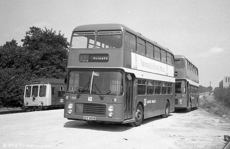 Bristol VRT/ECW H43/31F 905 (OCY 905R) on a rail replacement service at Pontarddulais.