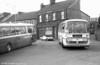 176 (XCY 176J), an AEC Reliance/Plaxton C44F on Swansea Pak & Ride services at Landore.