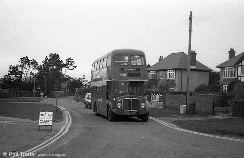 AEC Regent V/Willowbrook H37/27F 889 (GWN 867E) at Pennard.