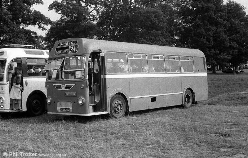 The now-preserved Bristol MW6G/ECW B45F 394 (CWN 629C).