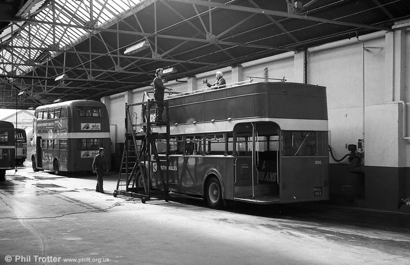 1953 Bristol KSW5G/ECW O33/28R 500 (WNO 484) at Brunswick St.