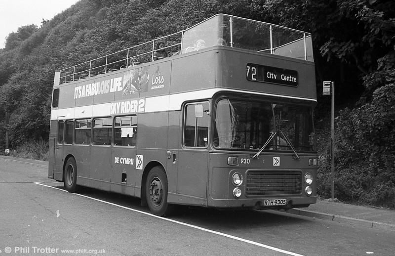 Bristol VRT SL3/ECW CO43/31F 930 (RTH 930S) at Caswell Bay.