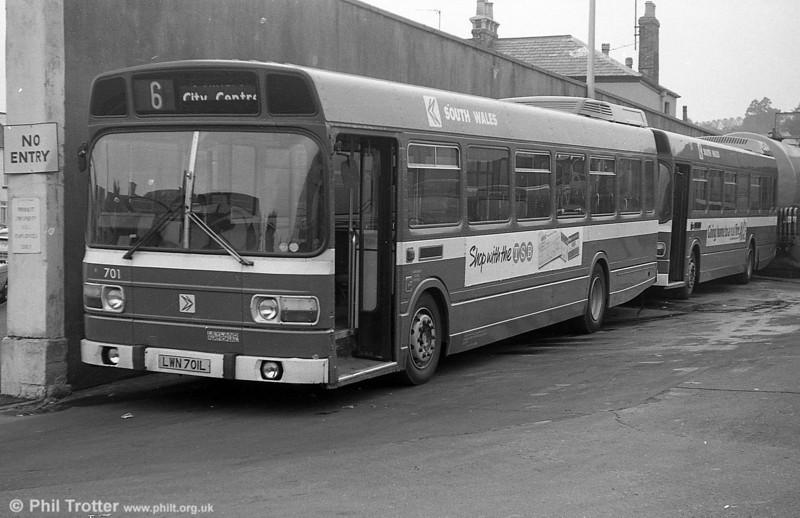 701 (LWN 701L), a Leyland National B52F.