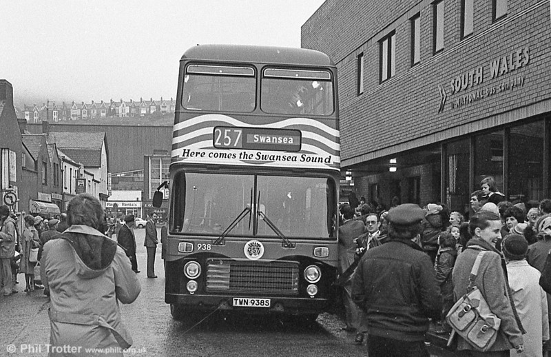 Bristol VRT 938 at its Swansea Sound launch event on March 7th 1981.