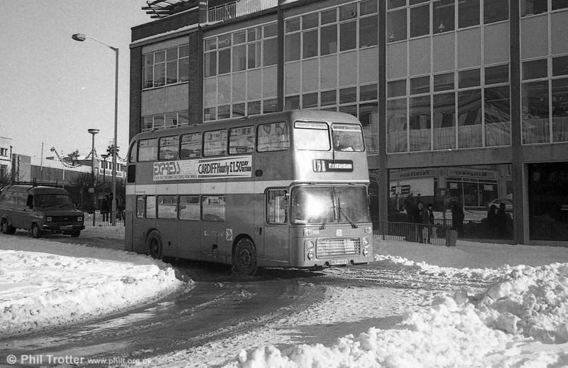 Bristol VRT SL3/ECW H43/31F 968 (BEP 968V) at Swansea.