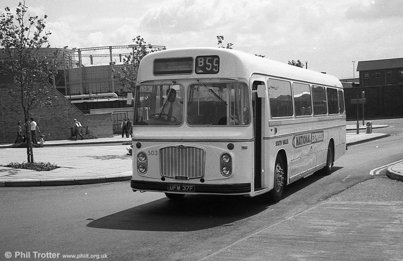 Acquired ex-Crosville in 1981 were UFM 37/39F, Bristol RELH6G/ECW C47F.
