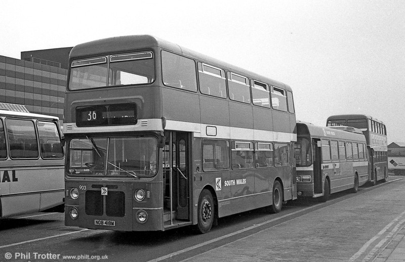 903 (NOB 418M), a Bristol VRT/MCW  H43/31F, ex-West Midlands PTE 4418 at Swansea.