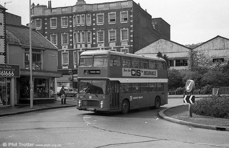 Bristol VRT SL3/ECW H43/31F 927 (RTH 927S) at Swansea.