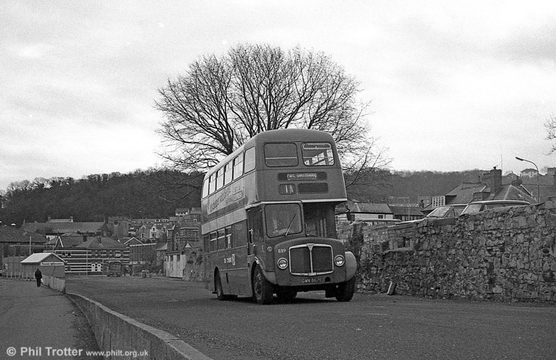 AEC Regent V/Willowbrook H37/27F 889 (GWN 867E) at Oystermouth.