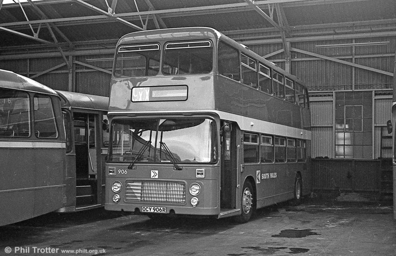 It's April 1981 and Bristol VRT 906 (OCY 906R) has returned to Llanelli from ECW, rebodied.